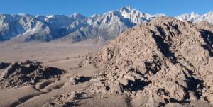 drone footage in eastern sierras